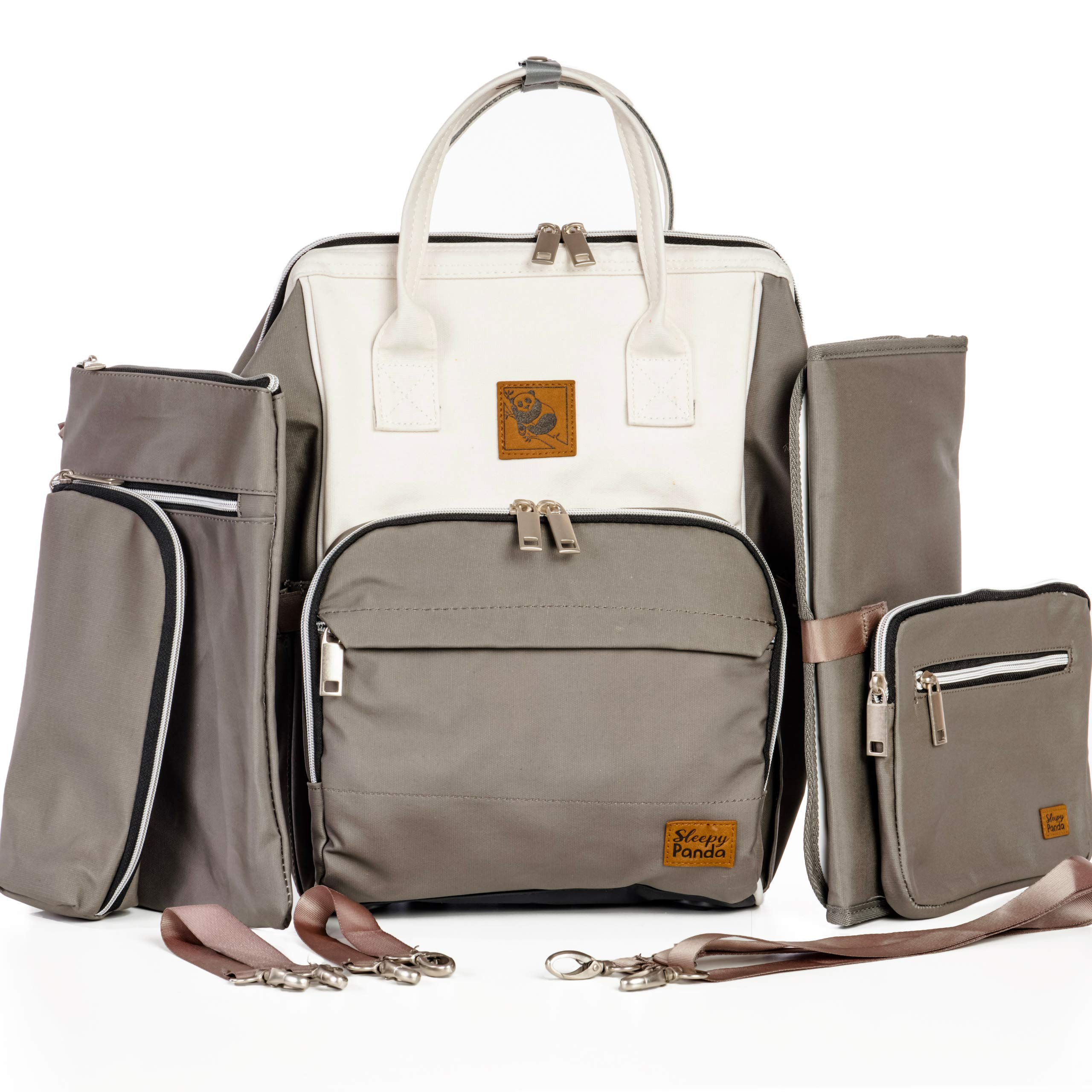 The Lizzie Diaper Bag Backpack with Stroller Straps, Baby Changing Pad & USB Hub, Neutral