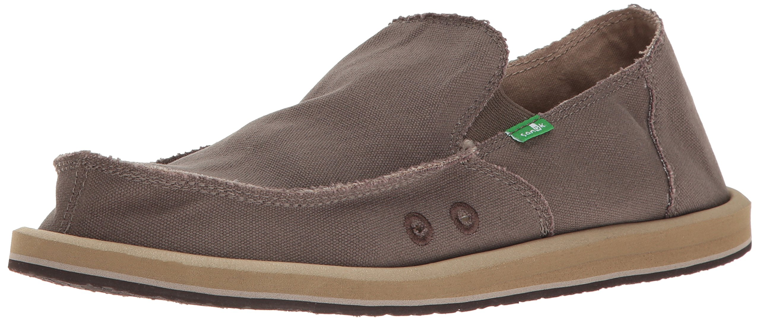 Sanuk Men's Vagabond Slip On, Brindle, 14 M US by Sanuk