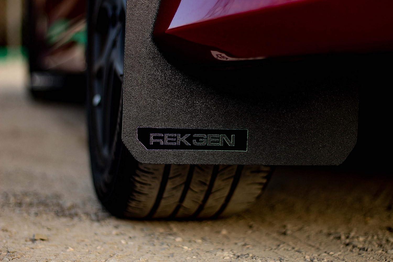 White Logo Rek Gen Rally Mud Flaps Compatible w//Ford Focus 11+