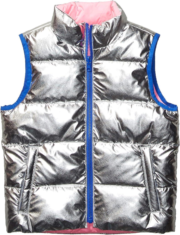 Spotted Zebra Reversible Puffer Vest Niñas