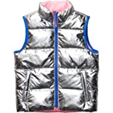 Amazon Brand - Spotted Zebra Girls' Reversible Puffer Vest
