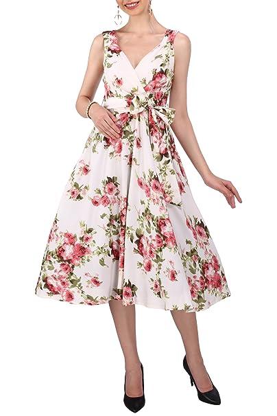 Vestido 40s 50s Swing Vintage Rockabilly Mujer Retro Fiesta De Promoción Plus Talla 10 - 28: Amazon.es: Ropa y accesorios