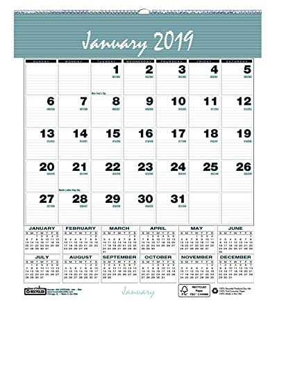 Free With Donation 18-Month July 2017 To December 2019 Wall Calendar Amazon.: House of Doolittle 2019 Monthly Wall Calendar, Bar