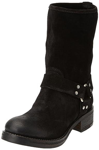 Boots 02 Biker Eu 36 Ikks Femme Noir Noir qPvZ5