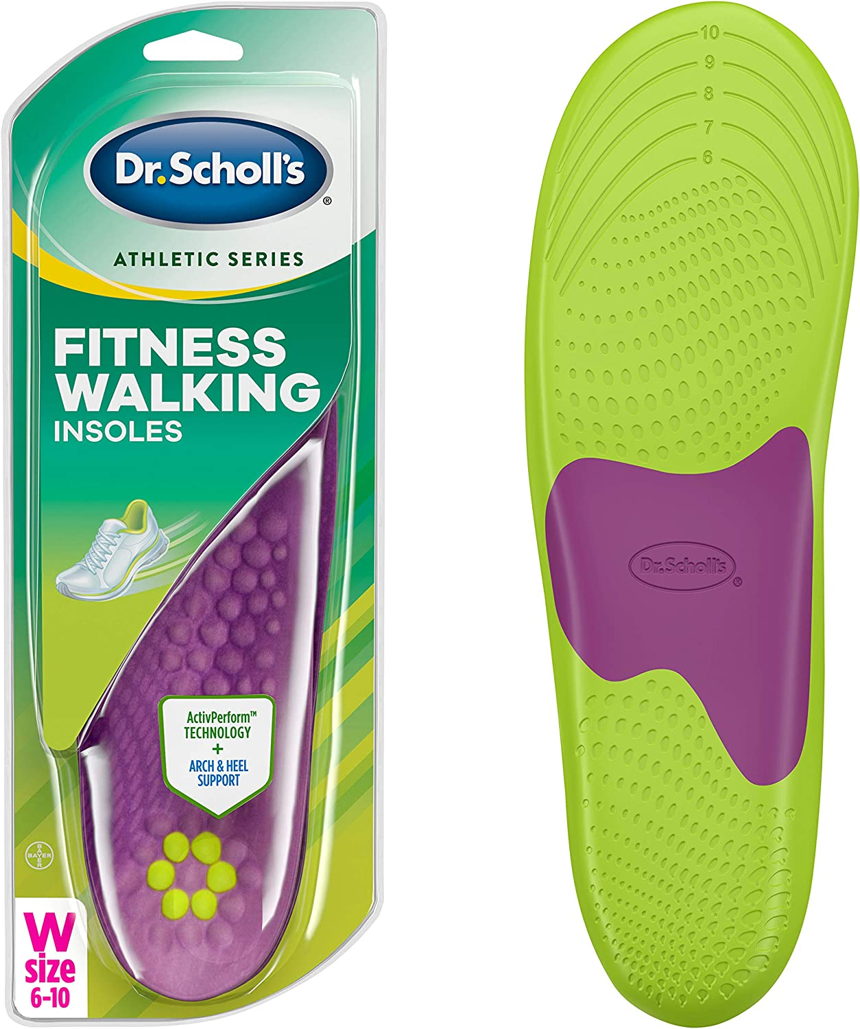 Dr. Scholl's FITNESS WALKING Insoles - Reduce Stress and Strain on your Lower Body while you Walk and Reduce Muscle Soreness