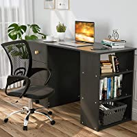 Advwin Computer Desk, Home Office Computer Desk with Drawers & Bookshelf, Spacious Study Writing Table for Home, Office…