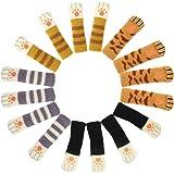 椅子脚カバー チェアソックス イス足カバー2重構造 脱げにくい 可愛い 猫あし 騒音 傷防止 部屋飾り 地震対策 4脚分 16個 (猫あし)