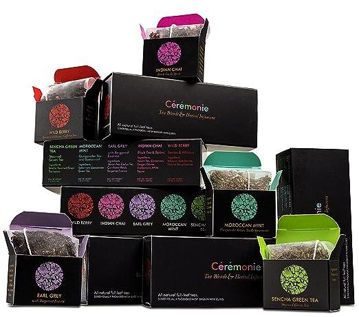Caja de regalo de té premium Ceremonie – 30 unidades – 5 ...