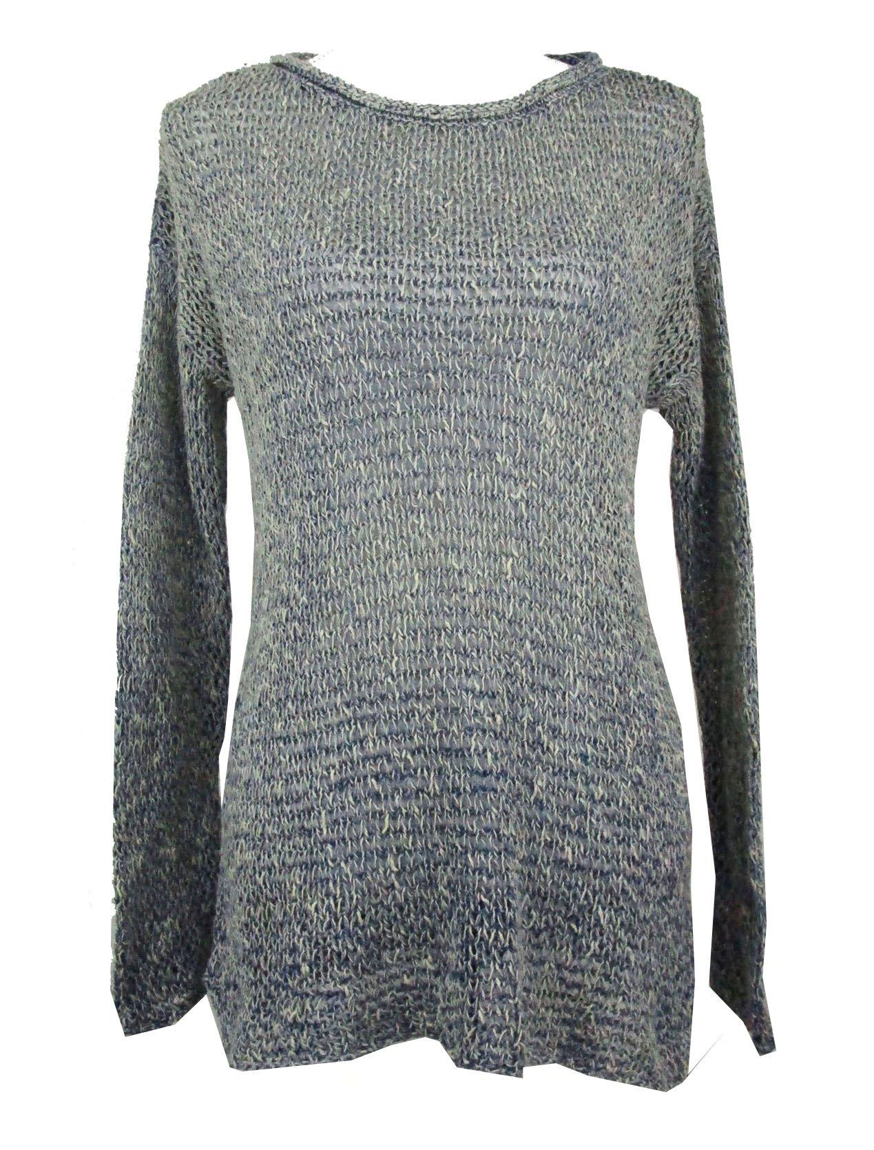 Denim & Supply Ralph Lauren Women's Open-Knit Sweater (Blue Multi, Large)