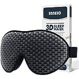 INNELO Sleep Mask, 2021 Comfortable Light Blocking Eye Mask for Men Women, 3D Contoured Cup Sleeping Mask No Pressure Soft Ey