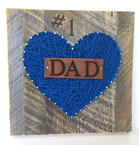 Amazon 1 dad nail string art sign for the best dad ever a 1 dad nail string art sign for the best dad ever a special and prinsesfo Images