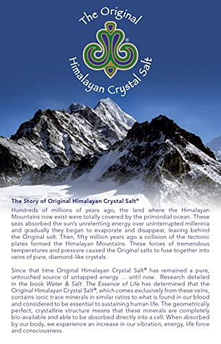 Original Himalayan Crystal Salt Stones for Sole 2.2lb (1kg) - Increase Hydration, Energy, Vibration, Cellular Communication and Replenish Electrolytes ...
