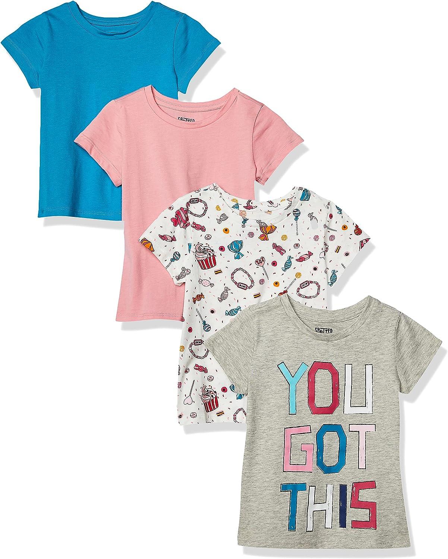 Spotted Zebra Girls Short-Sleeve Ruffle T-Shirts T-Shirt