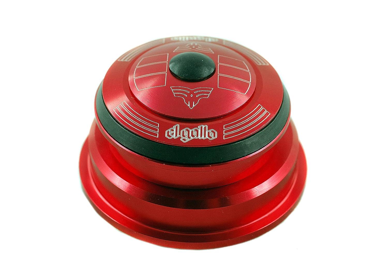 El Gallo Components Tappered - Dirección para bicicleta, color rojo