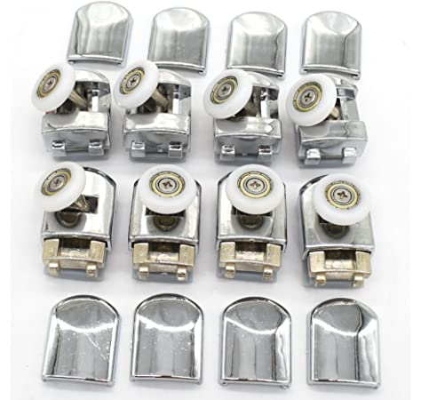 Shower Door Rollers, Lance Set of 8 Single Shower Door Runners/Wheels / Pulleys/Guides 23mm Diameter Home Bathroom DIY Replacement Parts(4 upper rollers and 4 bottom rollers) by Lance: Amazon.es: Bricolaje y herramientas