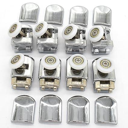 Juego de poleas y ruedas para mampara corredera de ducha individual, 8 unidades, rueda