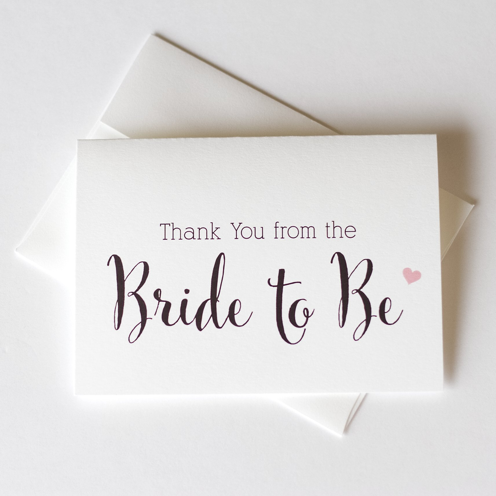 12 - Thank You from the Bride To Be, Thank You from the Future Mrs., Bridal Shower Thank You Cards (TYCN)