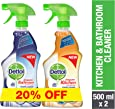 Dettol Orange Healthy Kitchen Power Cleaner Trigger Spray 500ml + Dettol Healthy Bathroom Power Cleaner Trigger 500ml