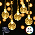DecorNova 19.7ft. 30-LED Solar Outdoor Ball String Lights