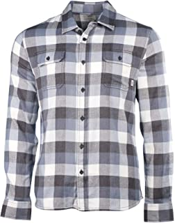 8e50c951ec Vans Alameda Mens Buttondown Long Sleeve Shirt Medium New Charcoal Blue  Mirage