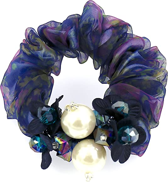 COMELYJEWEL Filles Cheveux Accessoires Ajustable Fleu Perles Mod/èle /Élastique Cheveux Attacher Chouchou pour Femmes