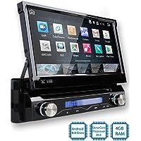 Tristan Auron BT1D7018A Autoradio mit Android 8.0, 7'' Touchscreen Bildschirm, mit Navi, GPS Navigation, Bluetooth Freisprecheinrichtung, Octa Core Prozessor, Mirror-Link, USB/SD, OBD 2, DAB+, 1 Din