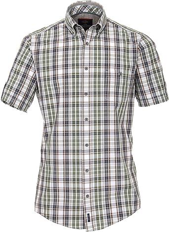Casa Moda 982907500A Casual Fit Dobby - Camisa de Manga Corta ...
