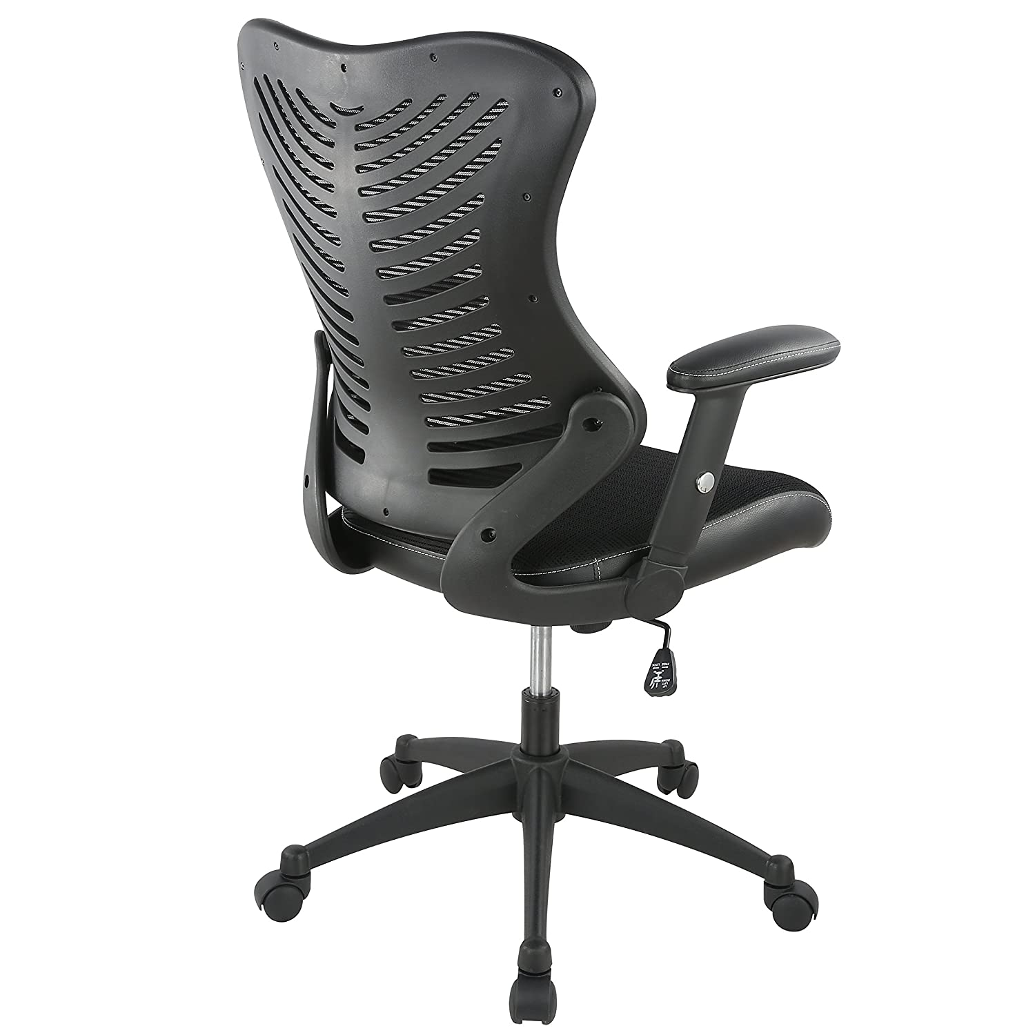 Poly and Bark Correna Office Chair in Mesh, Black