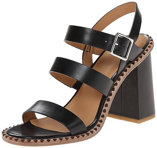 00fb694524c53 Marc by Marc Jacobs Women's Black Chunky-Heel Dress Sandal