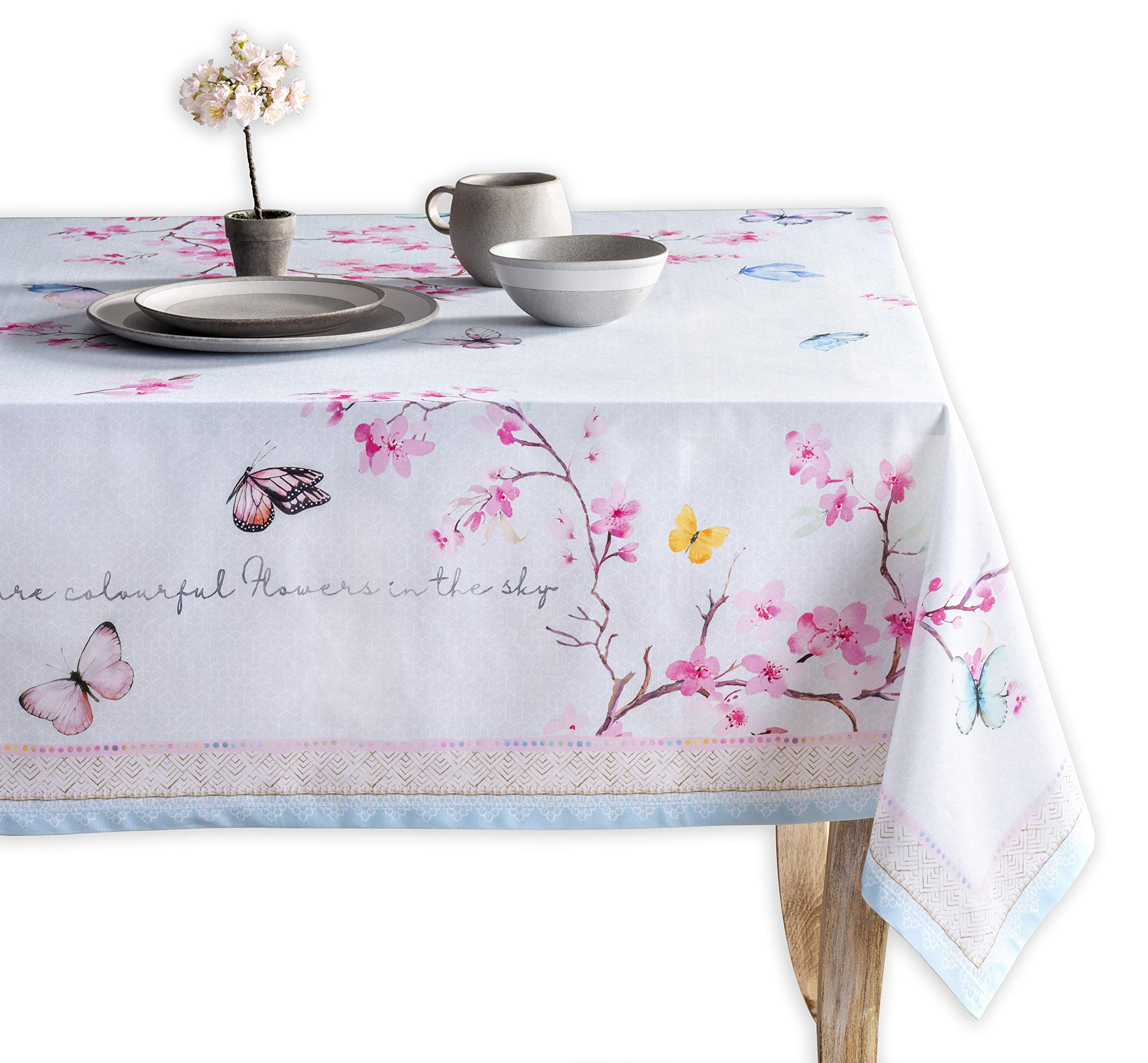 Maison d' Hermine Blossom in Spring 100% Cotton Tablecloth 60 Inch by 120 Inch