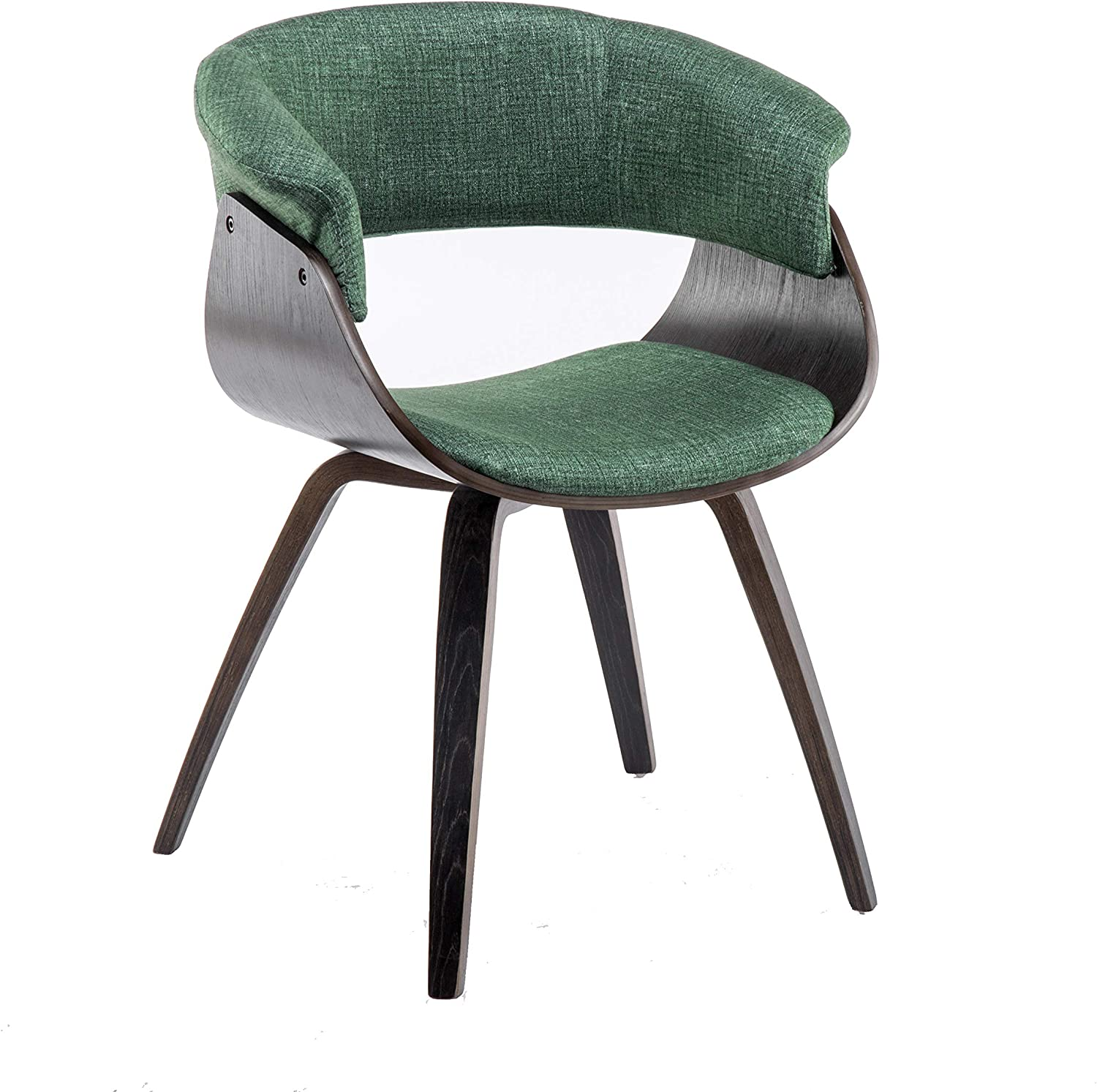 YEEFY Living Room Chair Dining Chairs in Fabic Upholstered Dining Chairs Bent Wood Green