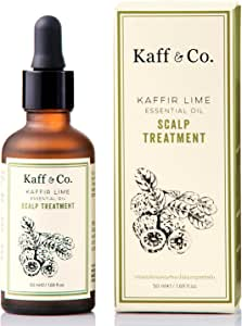 Kaffir Lime Essential Oil Leave On Scalp Treatment with Ginger Rhizome Extract - For Dandruff, Itchy, Unhealthy, Dry Scalp (Natural Ingredients, NO Sulfates, Silicone, Perfume or PARABEN)