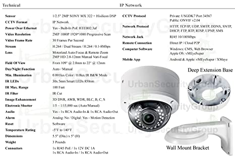 Amazon com : USG 36 Camera Security System : IP PoE CCTV Kit
