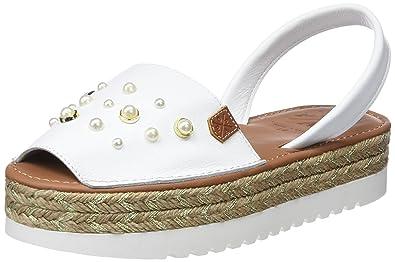 Menorquinas Popa Naxos Airoa White, Sandales Plateforme Femme, (Airoa White 0), 36 EU