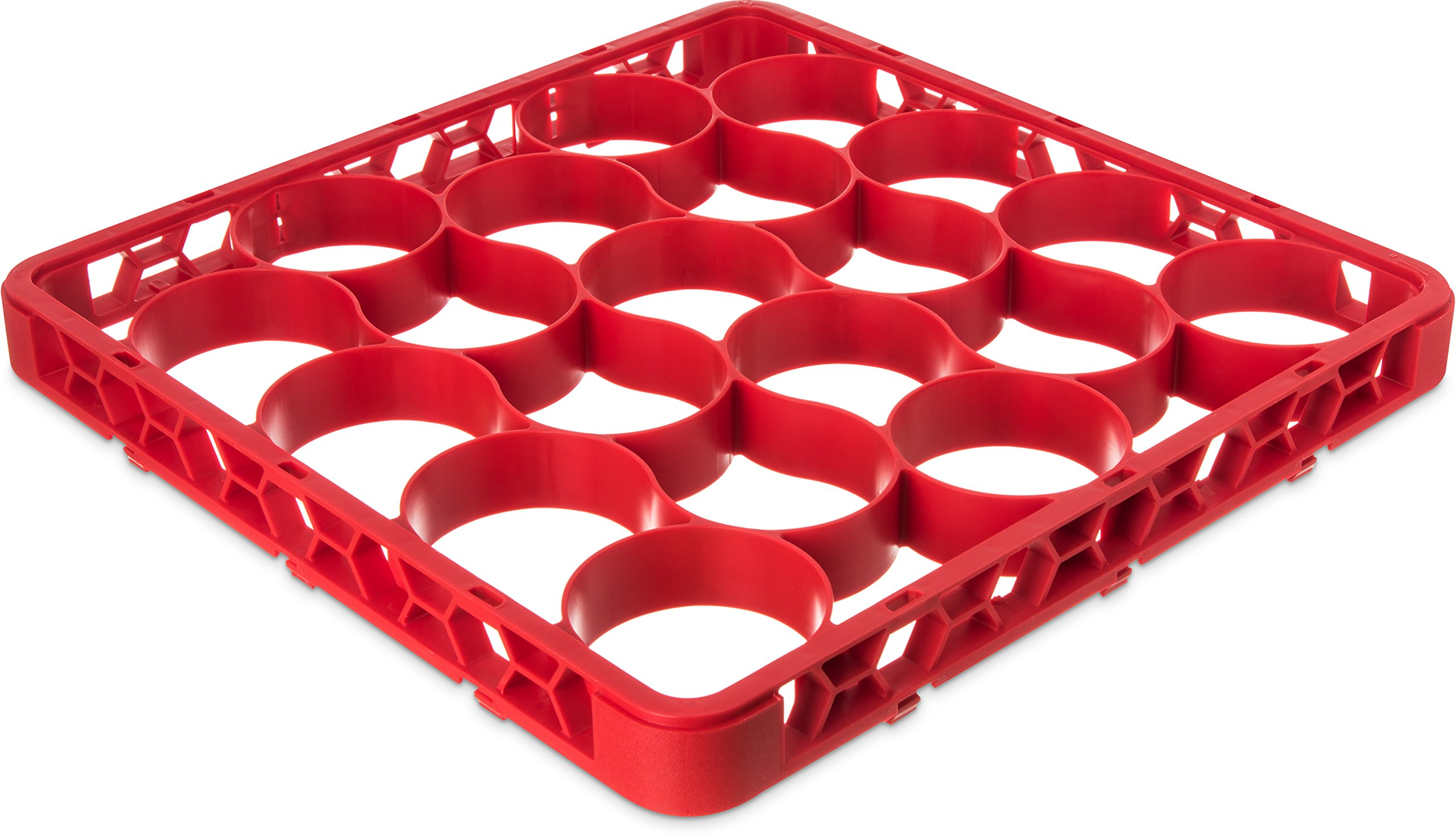 Carlisle REW20SC05 OptiClean NeWave 20 Compartment Glass Rack Extender, Red (Pack of 6)