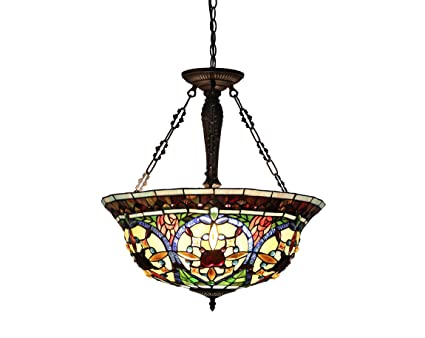 Chloe Lighting CHVGUH TiffanyStyle Victorian Light - Tiffany kitchen ceiling lights