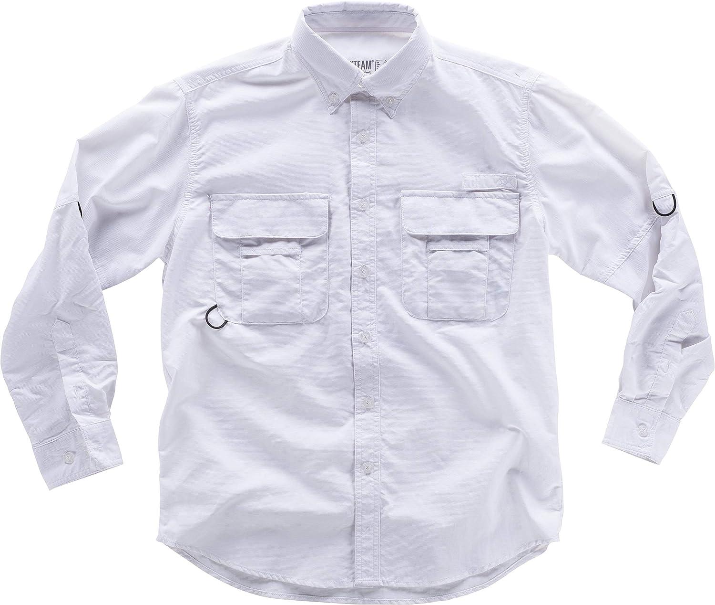 S-ROX WORKTEAM - Camisa Safari con Abertura Trasera y Rejilla Interior para Regular la transpiración. Cuello Abotonado y Cierre Central de Botones Hombre: Amazon.es: Ropa y accesorios
