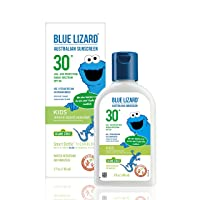 BLUE LIZARD KIDS Mineral Sunscreen with Zinc Oxide, SPF 30+, Water Resistant, UVA/UVB Protection with Smart Bottle Technology - Fragrance Free, Reef Safe Bottle, Unscented, 5 Fl.Oz