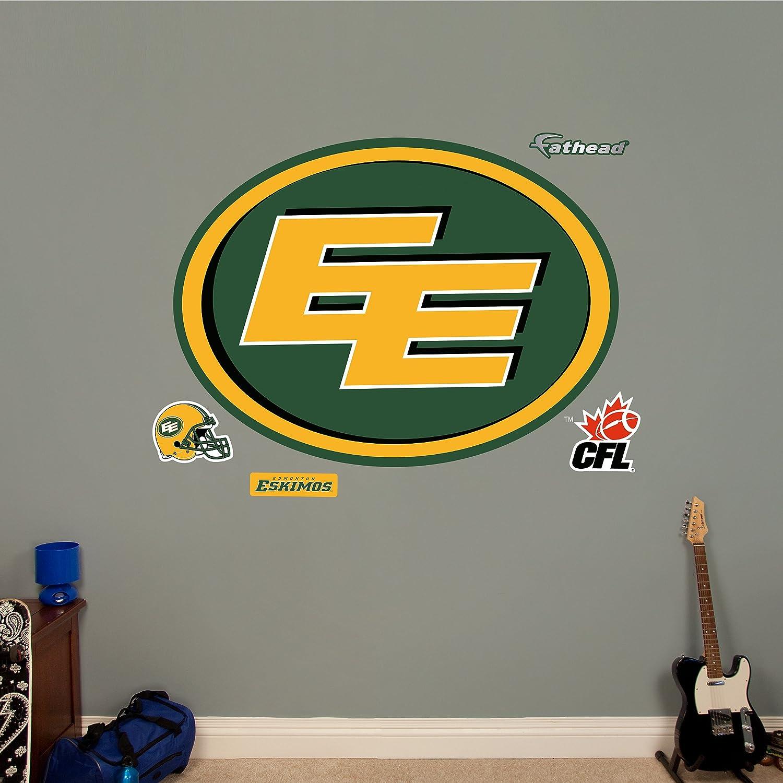 Fathead 1107-00003 Wall Decal, CFL Edmonton Eskimos RealBig Logo ...