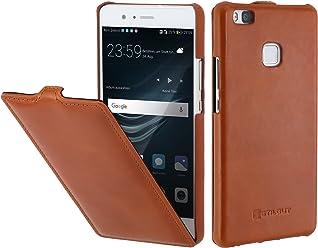 StilGut UltraSlim Case, Custodia in Pelle per Huawei P9 Lite, Cognac