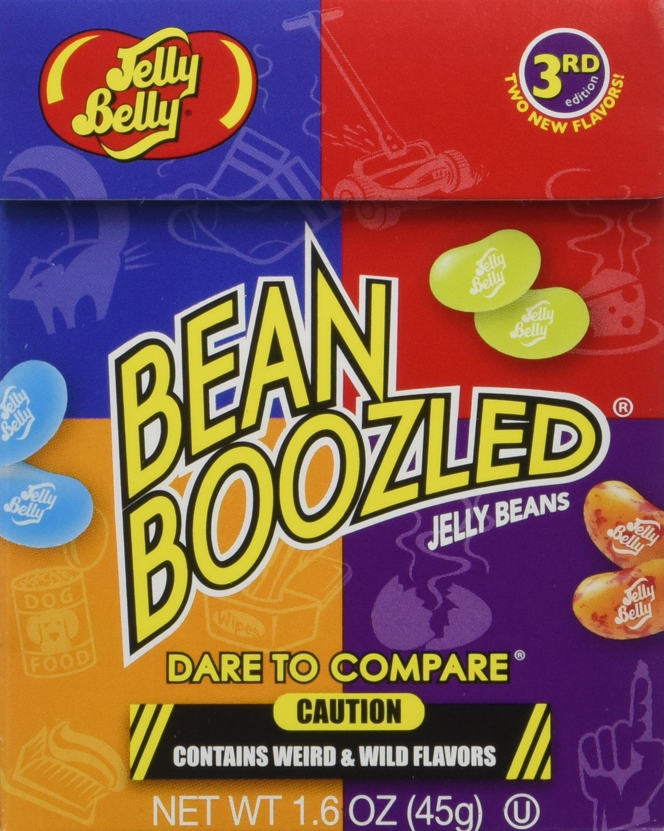 Jelly Belly BeanBoozled Jelly Beans 3rd Edition (4-Packs) NEW Flavors Stinky Socks and Lawn Clippings