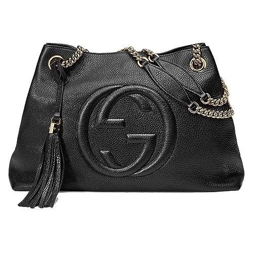 Amazon.com Gucci Soho Medium Black Double Leather Chain