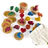 Guidecraft 3D Feel and Find World Icons - Shape and Tile Matching Toy for Kids, Learning & Educational Toys