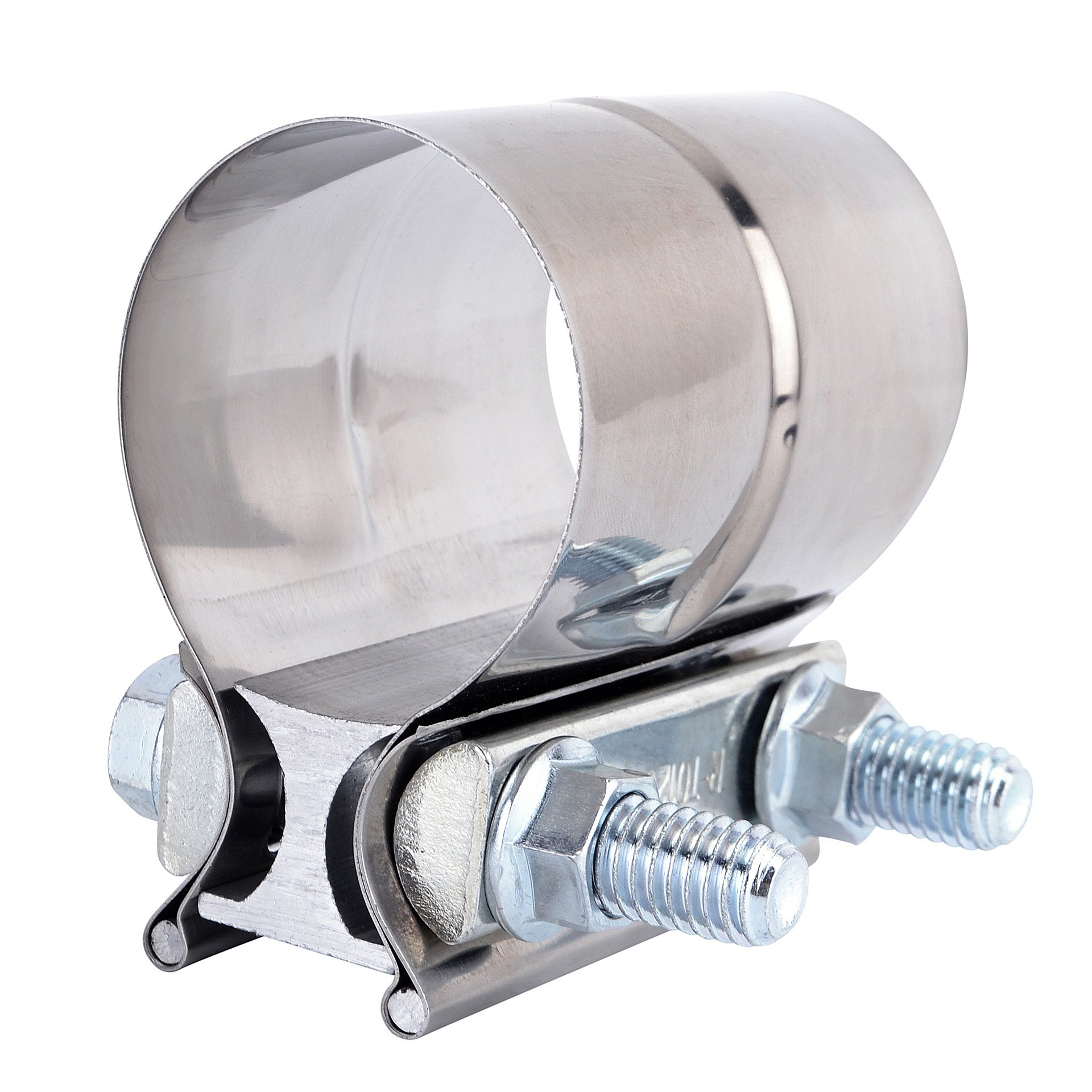 Evilenergy 4'' Lap Joint Exhaust Band Clamp Preformed 304 Stainless Steel
