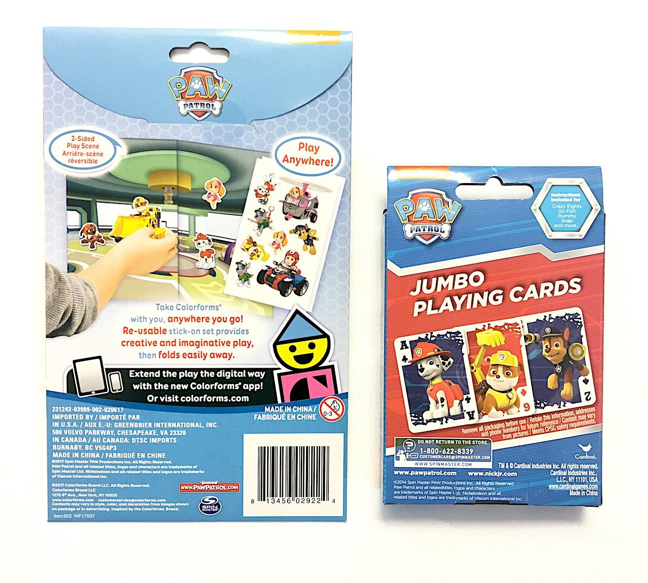 Amazon One Set Paw Patrol Jumbo Playing Cards With Instructions