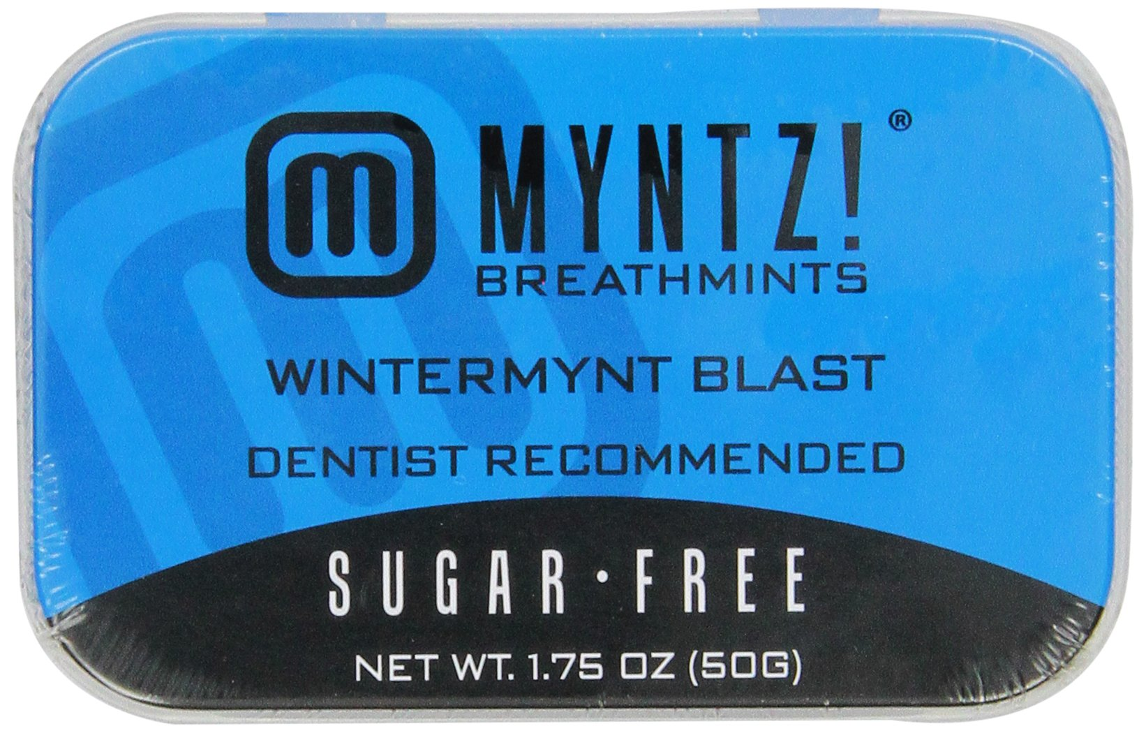 Myntz Wintermynt Blast Breathmints,Sugar Free 1.75-Ounce Containers (Pack of 12) by Myntz