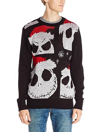 Amazon.com: Disney Nightmare Before Christmas Sweater Jack ...