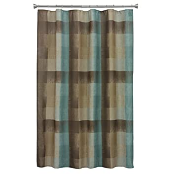 Bacova Guild Fresh Flannel Shower Curtain 70 By 72 Inch Plaid