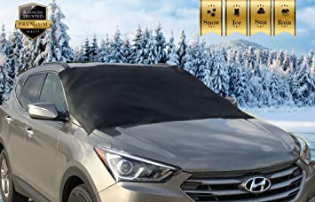 Frost Guard Covers Wipers No More Scraping Ice Door Flaps Windproof Magnetic Edges Premium Windshield Snow Cover for All Vehicles