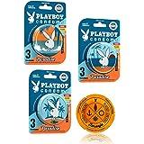 Playboy Condoms 27 Condones Paradise Lubricados en 9 Latas con 3 Condones c\u